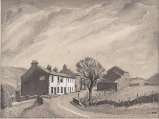 A painting of the Dales in winter